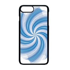 Prismatic Hole Blue Apple Iphone 8 Plus Seamless Case (black)