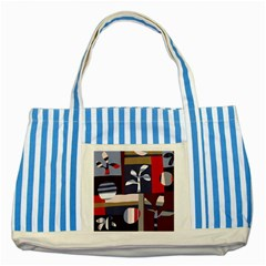 Surface Tree Polka Dots Striped Blue Tote Bag by Mariart