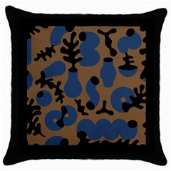 Superfiction Object Blue Black Brown Pattern Throw Pillow Case (black) by Mariart