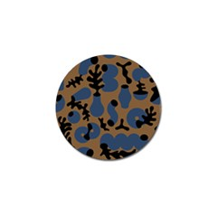 Superfiction Object Blue Black Brown Pattern Golf Ball Marker (10 Pack) by Mariart