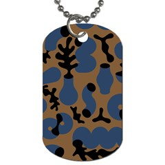 Superfiction Object Blue Black Brown Pattern Dog Tag (two Sides)