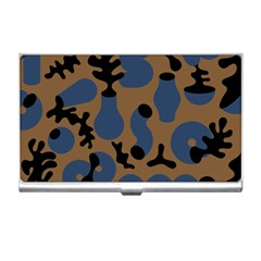 Superfiction Object Blue Black Brown Pattern Business Card Holders by Mariart