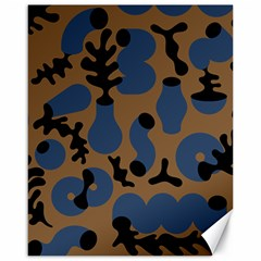 Superfiction Object Blue Black Brown Pattern Canvas 16  X 20   by Mariart