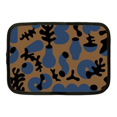 Superfiction Object Blue Black Brown Pattern Netbook Case (medium)  by Mariart