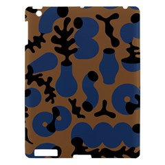 Superfiction Object Blue Black Brown Pattern Apple Ipad 3/4 Hardshell Case by Mariart