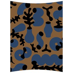 Superfiction Object Blue Black Brown Pattern Back Support Cushion