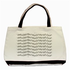Tattoos Transparent Tumblr Overlays Wave Waves Black Chevron Basic Tote Bag (two Sides) by Mariart