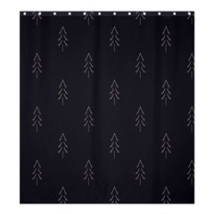 Tree Christmas Shower Curtain 66  X 72  (large)