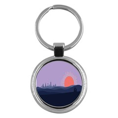 Wedding Lavender Moon Romantic Natural Key Chains (round)  by Mariart