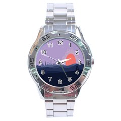Wedding Lavender Moon Romantic Natural Stainless Steel Analogue Watch by Mariart