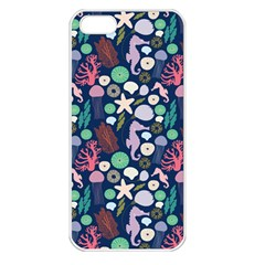 Seahorses Jellyfish Seaworld Sea  Beach Swiim Apple Iphone 5 Seamless Case (white) by Mariart