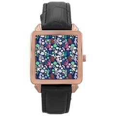 Seahorses Jellyfish Seaworld Sea  Beach Swiim Rose Gold Leather Watch  by Mariart