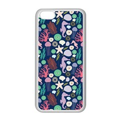 Seahorses Jellyfish Seaworld Sea  Beach Swiim Apple Iphone 5c Seamless Case (white) by Mariart