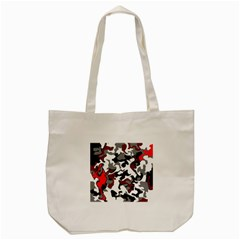 Vector Red Black White Camo Advance Tote Bag (cream) by Mariart