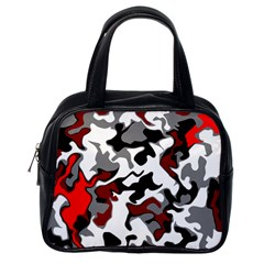 Vector Red Black White Camo Advance Classic Handbags (one Side) by Mariart