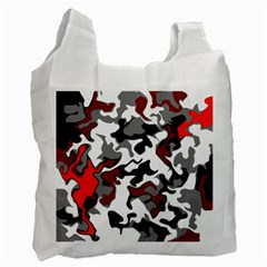 Vector Red Black White Camo Advance Recycle Bag (one Side) by Mariart