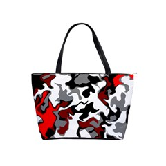 Vector Red Black White Camo Advance Shoulder Handbags by Mariart