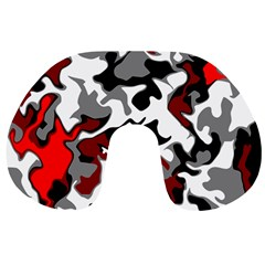 Vector Red Black White Camo Advance Travel Neck Pillows by Mariart