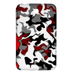 Vector Red Black White Camo Advance Samsung Galaxy Tab 3 (7 ) P3200 Hardshell Case  by Mariart