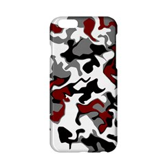 Vector Red Black White Camo Advance Apple Iphone 6/6s Hardshell Case by Mariart