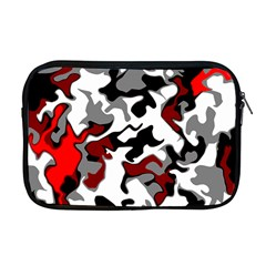 Vector Red Black White Camo Advance Apple Macbook Pro 17  Zipper Case