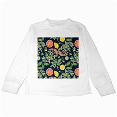 Summer Fruite Orange Lemmon Tomato Kids Long Sleeve T Shirts