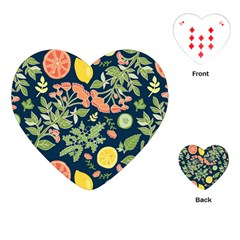 Summer Fruite Orange Lemmon Tomato Playing Cards (heart)