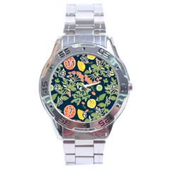 Summer Fruite Orange Lemmon Tomato Stainless Steel Analogue Watch by Mariart