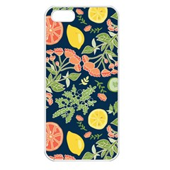 Summer Fruite Orange Lemmon Tomato Apple Iphone 5 Seamless Case (white) by Mariart