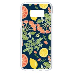 Summer Fruite Orange Lemmon Tomato Samsung Galaxy S8 Plus White Seamless Case by Mariart