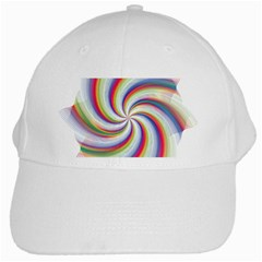 Prismatic Hole Rainbow White Cap
