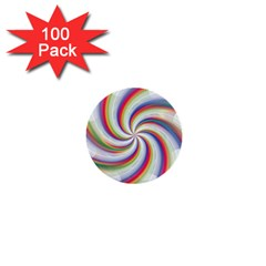 Prismatic Hole Rainbow 1  Mini Buttons (100 Pack)