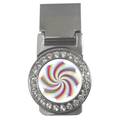 Prismatic Hole Rainbow Money Clips (cz)