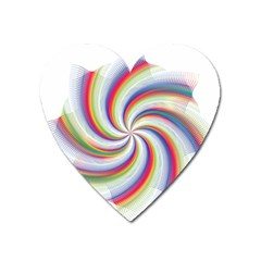 Prismatic Hole Rainbow Heart Magnet by Mariart