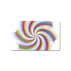 Prismatic Hole Rainbow Magnet (name Card) by Mariart