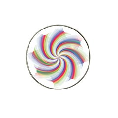 Prismatic Hole Rainbow Hat Clip Ball Marker (4 Pack)