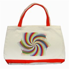 Prismatic Hole Rainbow Classic Tote Bag (red) by Mariart