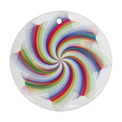 Prismatic Hole Rainbow Round Ornament (two Sides)
