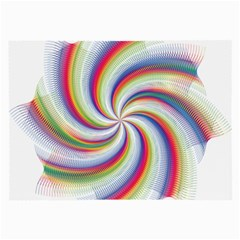 Prismatic Hole Rainbow Large Glasses Cloth (2 Side) by Mariart