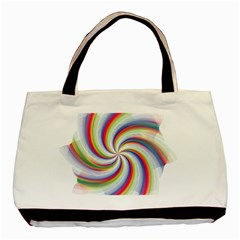 Prismatic Hole Rainbow Basic Tote Bag (two Sides)