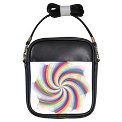 Prismatic Hole Rainbow Girls Sling Bags