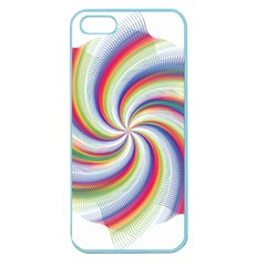 Prismatic Hole Rainbow Apple Seamless Iphone 5 Case (color) by Mariart