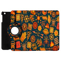 Tribal Ethnic Blue Gold Culture Apple Ipad Mini Flip 360 Case by Mariart