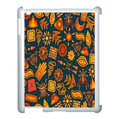 Tribal Ethnic Blue Gold Culture Apple Ipad 3/4 Case (white) by Mariart
