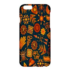 Tribal Ethnic Blue Gold Culture Apple Iphone 6 Plus/6s Plus Hardshell Case