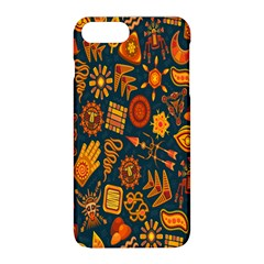 Tribal Ethnic Blue Gold Culture Apple Iphone 8 Plus Hardshell Case by Mariart