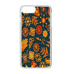Tribal Ethnic Blue Gold Culture Apple Iphone 8 Plus Seamless Case (white)