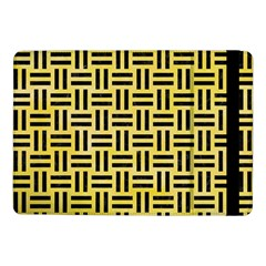 Woven1 Black Marble & Yellow Watercolor Samsung Galaxy Tab Pro 10 1  Flip Case by trendistuff