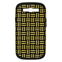 Woven1 Black Marble & Yellow Watercolor (r) Samsung Galaxy S Iii Hardshell Case (pc+silicone) by trendistuff