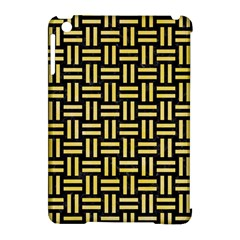 Woven1 Black Marble & Yellow Watercolor (r) Apple Ipad Mini Hardshell Case (compatible With Smart Cover) by trendistuff